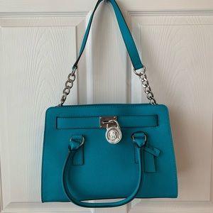 Michael Kors Hamilton teal handbag